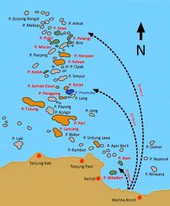 map kepulauan seribu